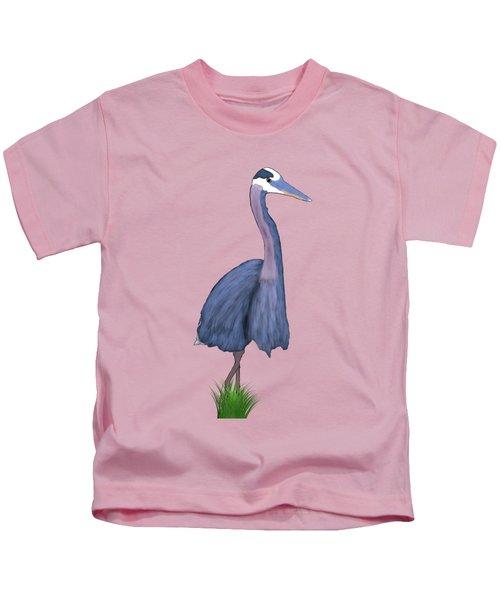 Great Blue Heron Impression Kids T-Shirt by Endora TwinkLens