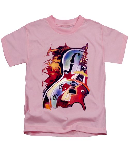 Guitar Flow Kids T-Shirt by Melanie D