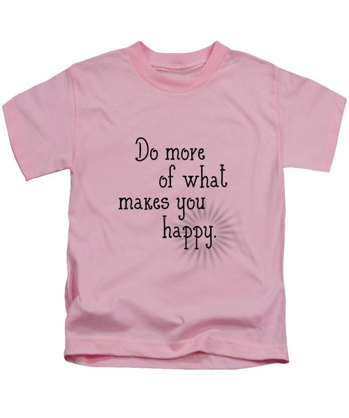 Text Art Happy Kids T-Shirt by Melanie Viola