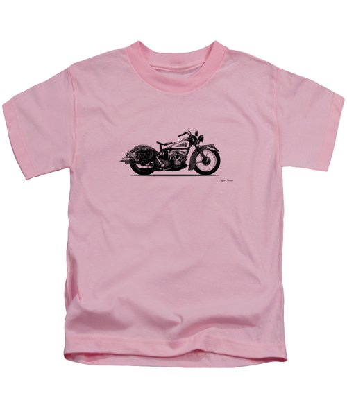 Indian Sport Scout 1939  Kids T-Shirt by Mark Rogan