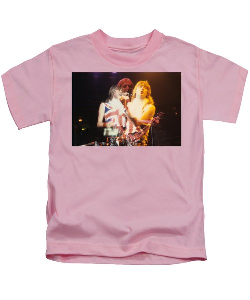 Joe And Phil Of Def Leppard Kids T-Shirt by Rich Fuscia