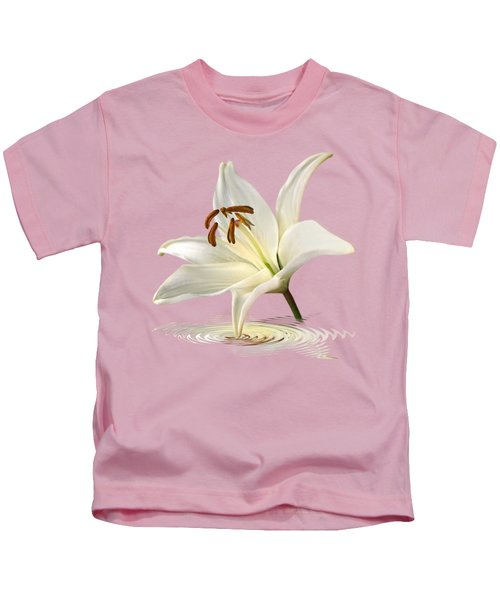 Lily Trumpet Kids T-Shirt by Gill Billington