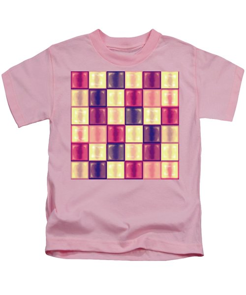 Marsala Ceramic Tiles - Square Kids T-Shirt by Shelly Weingart