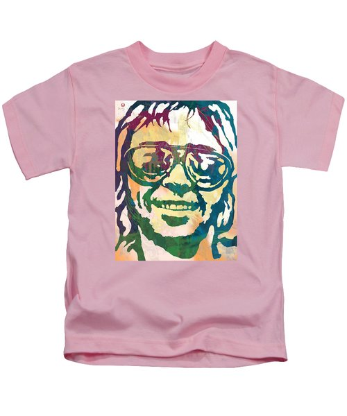 Neil Young Pop Stylised Art Poster Kids T-Shirt by Kim Wang