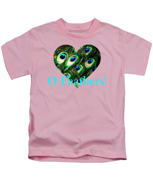 O Feathers Kids T-Shirt by Anita Faye