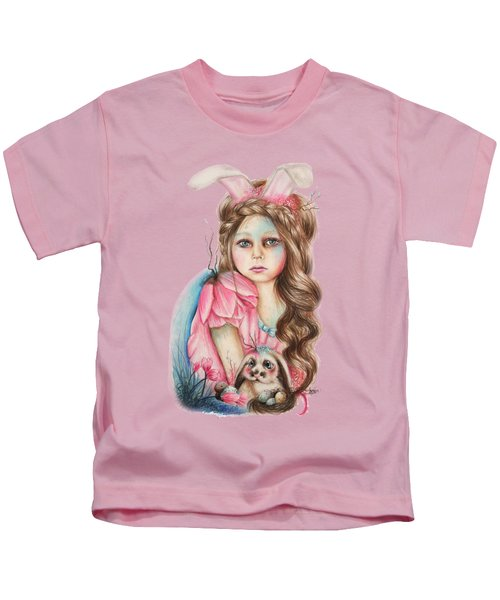 Only Friend In The World - Bunny Kids T-Shirt by Sheena Pike