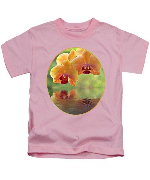 Oriental Spa - Square Kids T-Shirt by Gill Billington