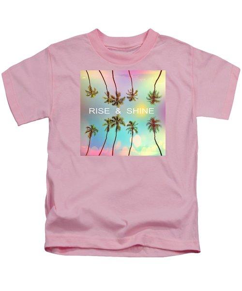 Palm Trees Kids T-Shirt by Mark Ashkenazi