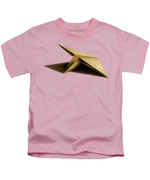 Paper Airplanes Of Wood 7 Kids T-Shirt by YoPedro
