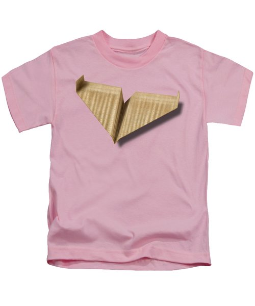 Paper Airplanes Of Wood 8 Kids T-Shirt by YoPedro