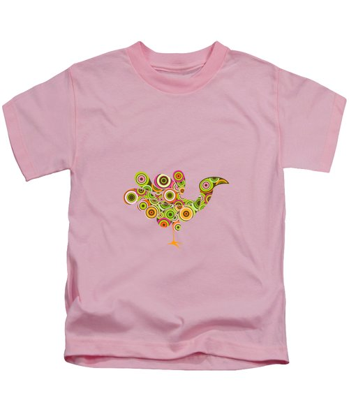 Peafowl Kids T-Shirt by BONB Creative