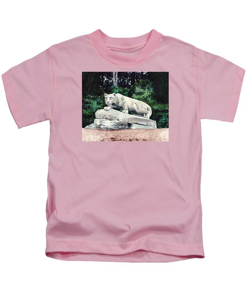 Penn State Nittany Lion Shrine University Happy Valley Joe Paterno Kids T-Shirt by Laura Row