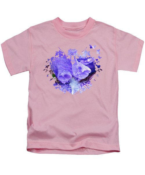 Pretty Purple Kids T-Shirt by Anita Faye