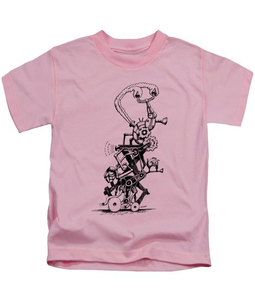 Rat Reverse-cycle Steam Engine Kids T-Shirt by Kim Gauge