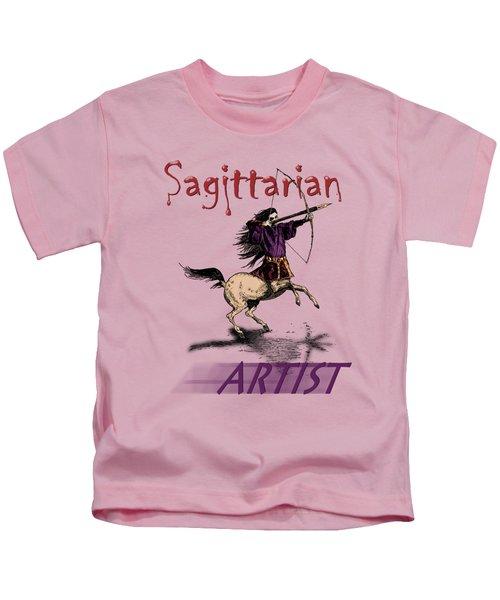 Sagittarian Artist Kids T-Shirt by Joseph Juvenal