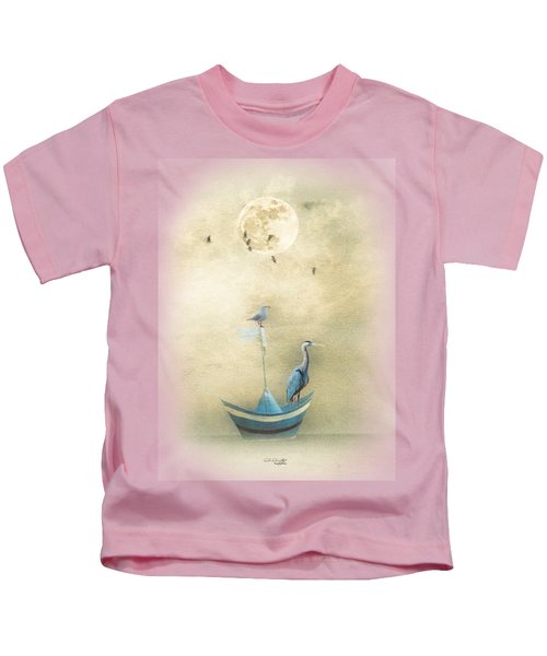 Sailing By The Moon Kids T-Shirt by Chris Armytage