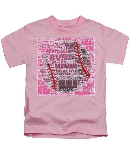 Softball  Kids T-Shirt by Brandi Fitzgerald