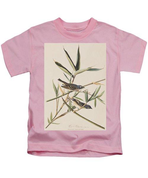 Solitary Flycatcher Or Vireo Kids T-Shirt by John James Audubon