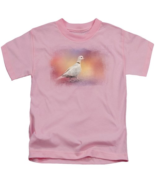 Spring Eurasian Collared Dove Kids T-Shirt by Jai Johnson