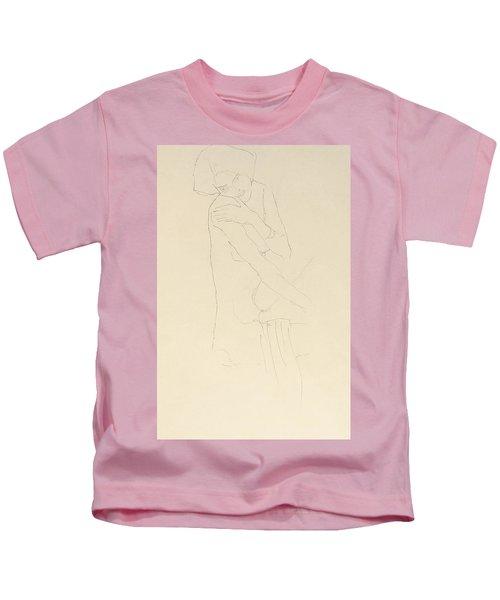 Study For Adele Bloch Bauer II Kids T-Shirt by Gustav Klimt