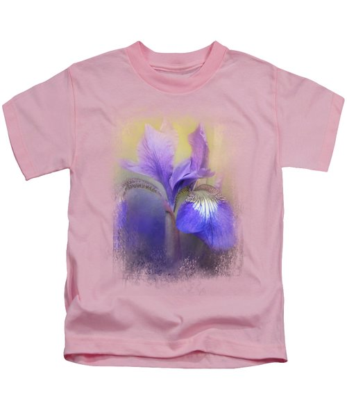 Tiny Iris Kids T-Shirt by Jai Johnson