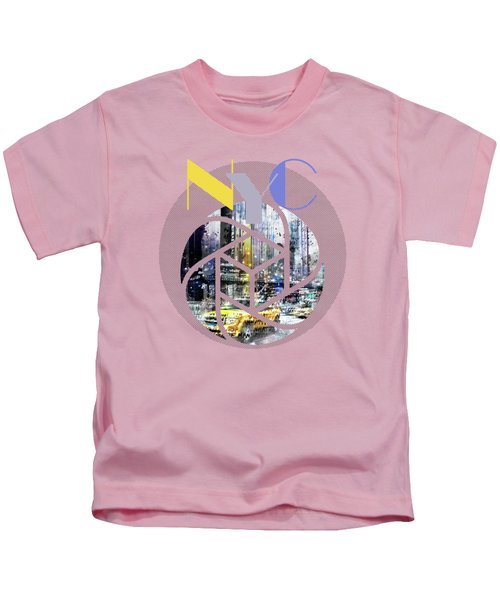 Trendy Design New York City Geometric Mix No 3 Kids T-Shirt by Melanie Viola