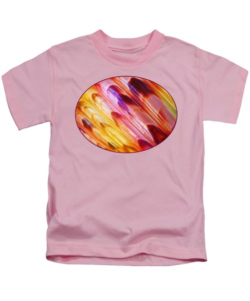 Triton Seashell Multicolor Abstract Kids T-Shirt by Gill Billington
