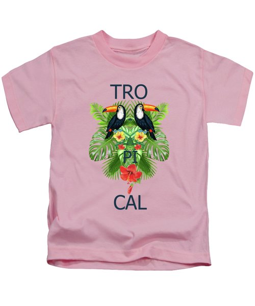 Tropical Summer  Kids T-Shirt by Mark Ashkenazi