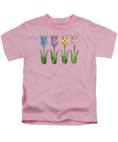 Tulip Row Kids T-Shirt by Shelley Wallace Ylst