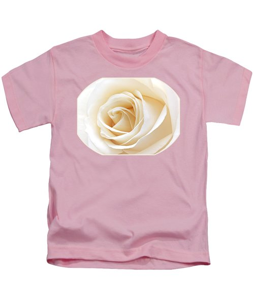 White Rose Heart Kids T-Shirt by Gill Billington