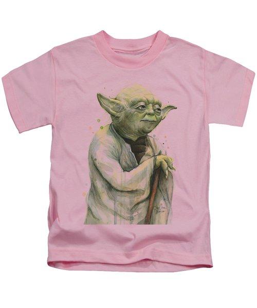 Yoda Portrait Kids T-Shirt by Olga Shvartsur