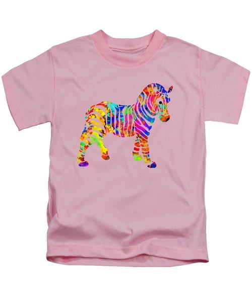 Zebra Kids T-Shirt by Christina Rollo
