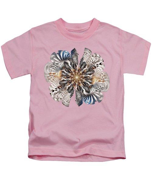 Zebra Flower Kids T-Shirt by Anastasiya Malakhova