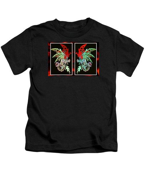 Mech Dragons Pastel Kids T-Shirt by Shawn Dall
