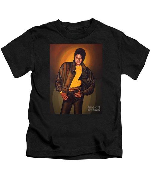 Michael Jackson Kids T-Shirt by Paul Meijering