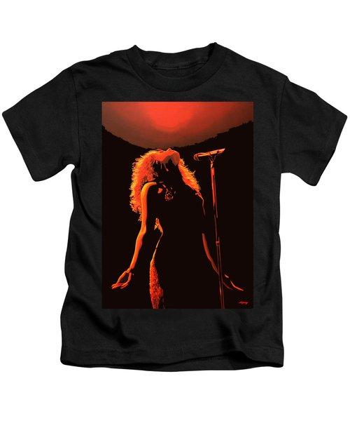 Shakira Kids T-Shirt by Paul Meijering