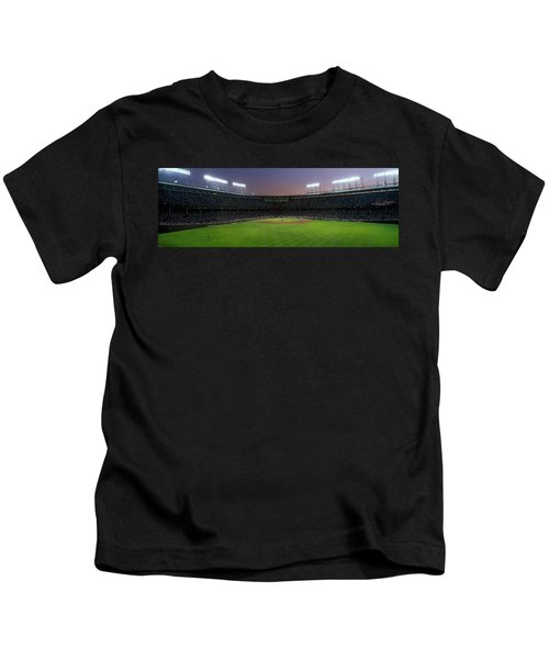 Spectators Watching A Baseball Match Kids T-Shirt by Panoramic Images