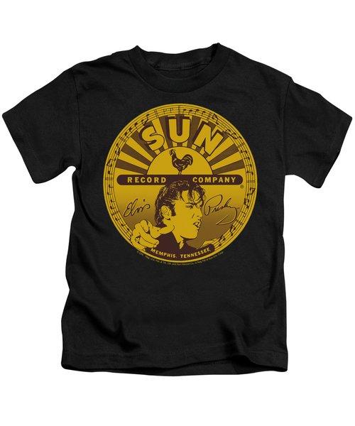 Sun - Elvis Full Sun Label Kids T-Shirt by Brand A