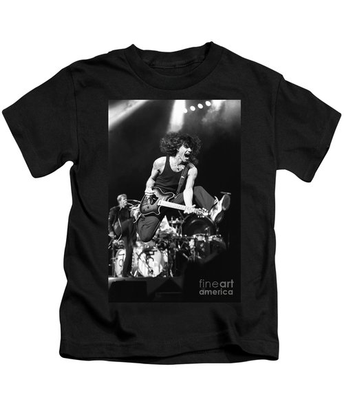 Van Halen - Eddie Van Halen Kids T-Shirt by Concert Photos
