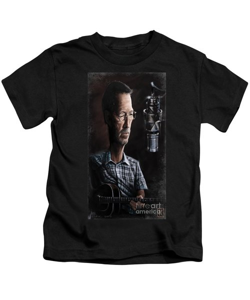 Eric Clapton Kids T-Shirt by Andre Koekemoer