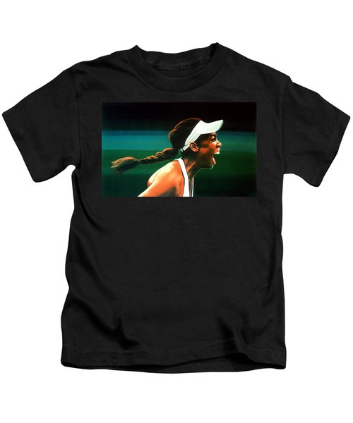 Venus Williams Kids T-Shirt by Paul Meijering