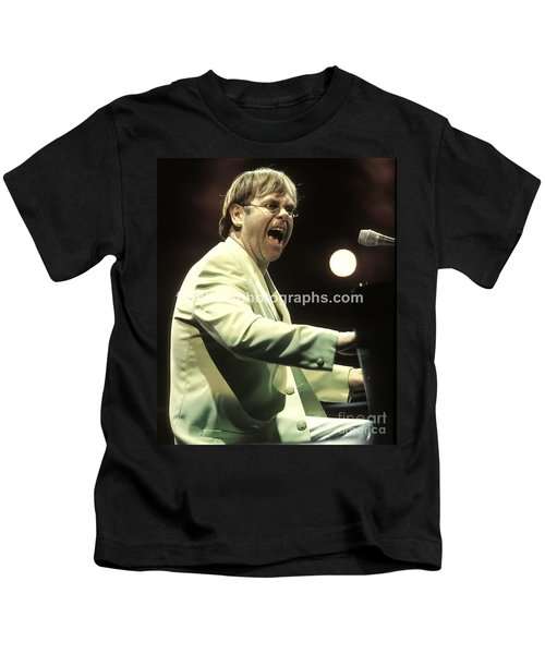 Elton John Kids T-Shirt by Concert Photos