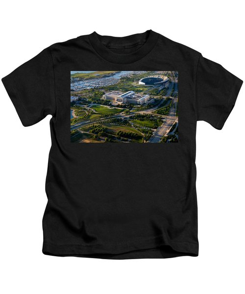 Aerial View Of The Field Museum Kids T-Shirt by Panoramic Images