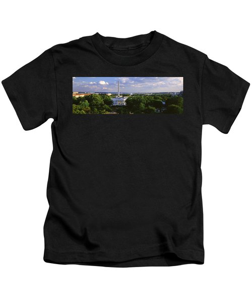 Aerial, White House, Washington Dc Kids T-Shirt by Panoramic Images