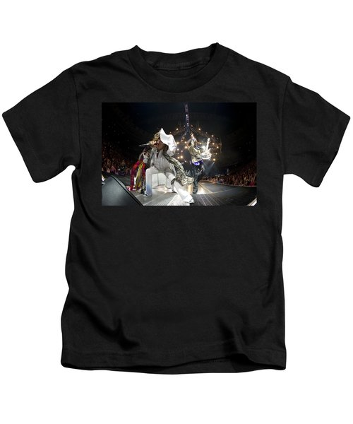 Aerosmith - On Stage 2012 Kids T-Shirt by Epic Rights