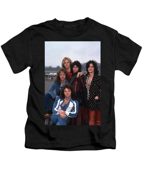 Aerosmith - Terre Haute 1977 Kids T-Shirt by Epic Rights
