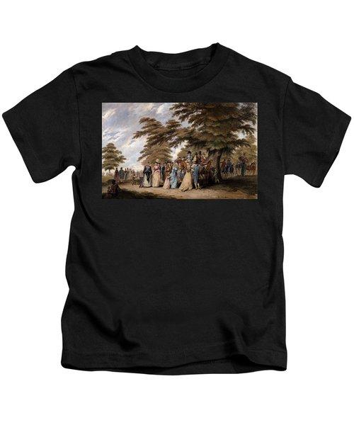 An Airing In Hyde Park, 1796 Kids T-Shirt by Edward Days