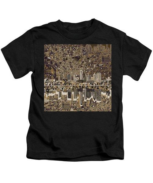 Austin Texas Skyline 5 Kids T-Shirt by Bekim Art