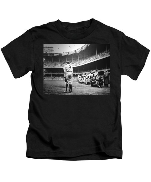 Babe Ruth Poster Kids T-Shirt by Gianfranco Weiss