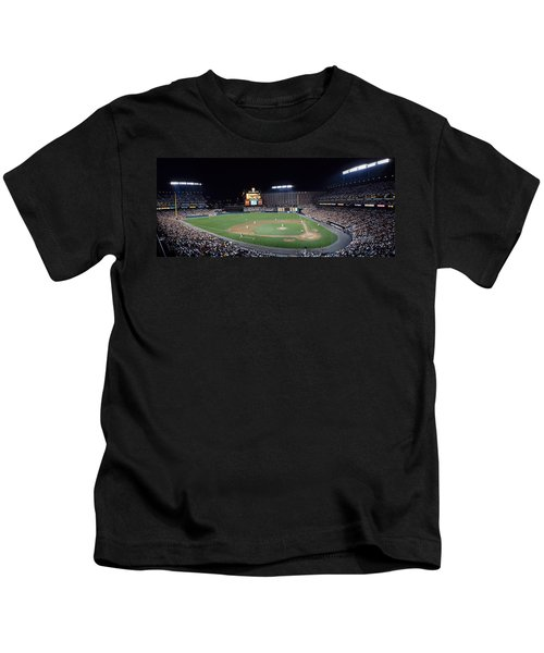 Baseball Game Camden Yards Baltimore Md Kids T-Shirt by Panoramic Images